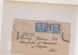 MARCOPHILIE-GANDON-LR-PROVISOIRE-ST. BONNET LE CHATEAU-LOIRE-26-3-1947 - Tijdelijke Stempels