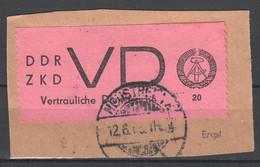 DDR , Dienstmarken D , VD Nr.2 Auf Briefstück  , Signiert Engel - Service