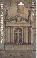 Nº 143 TARJETA DE CUBA DE EL PRIMER MONUMENTO - Cuba