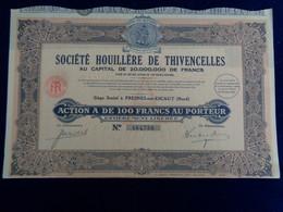 FRANCE - 59 - FRESNES SUR ESCAUT 1929 - STE HOUILLERE DE THIVENCELLES - ACTION 'A ' DE 100 FRS - Unclassified