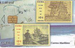 Nº 230 TARJETA DE CUBA DE CORREO MARITIMO (STAMP-SELLO) - Cuba