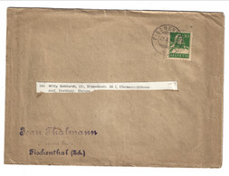 1927 Printed Matter From Fischenthal To Chemnitz (Germany). 10 Rp Wilhelm Tell - Covers & Documents