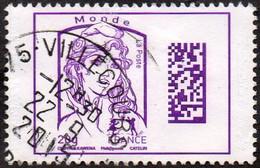 France Oblitération Cachet à Date N° 4976 - Marianne De Ciappa Et Kawena Datamatrix Monde - Oblitérés