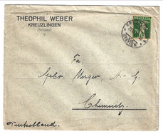 1928 Printed Matter From Kreuzlingen To Chemnitz (Germany) 7,5 Rp. - Covers & Documents