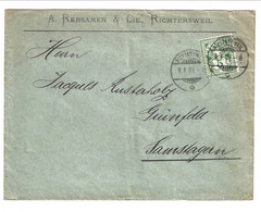 1907 Cover From Richtersweil To Samstagern - Covers & Documents