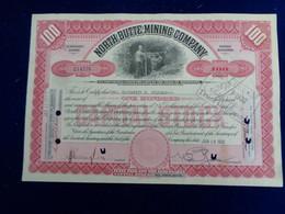 USA - MINNESOTA 1931 - NORTH BUTTE MINING Co - TITRE DE 100 A CTIONS DE  $ 2,5 - Unclassified