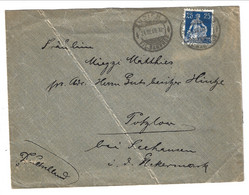 1909 Cover From Zurich Fil. Bahnhof To Seehausen - Oberuckersee - Germany 25 Rp. Helvetia - Covers & Documents