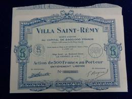 FRANCE - 78 - LE VESINET 1927 - VILLA ST REMY - ACTION DE 500 FRS - Unclassified