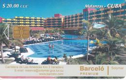TARJETA DE CUBA DEL HOTEL BARCELO PREMIUM EN MATANZAS - Cuba