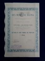 ALGERIE - CIE FRANCAISE DES MINES DE HAFNA - ACTION DE 100 FRS - Unclassified