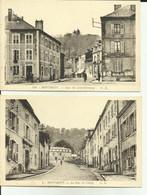 55 - Meuse - - Lot De 2 Cartes -  Montmédy - Rue De Chiny - Rue Du Luxembourg - Gendarmerie - - Montmedy