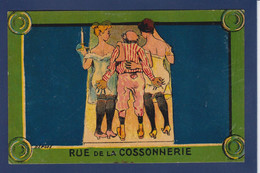 CPA Paris Les Plaques De Rues Non Circulé Femme Women Prostitution - Zonder Classificatie