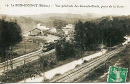 14324-  Rhone  - Le BOIS D'OINGT  -  LA GARE   LES GRANDS PONTS     Circulée En 1915 - Autres Communes