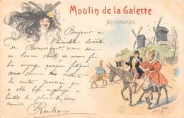 Illustrateur REDON - PARIS  - MONTMARTRE - Moulin De La Galette - âne - Redon