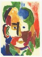 Sebastian Mayrle Aquarelle Self Portrait Abstract Painting Postcard - Malerei & Gemälde