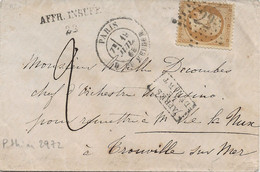 Paris R. Du Helder : Enveloppe Taxée, Griffe AFFR. INSUFF. 22, Pothion N°2972. - Cartas Con Impuestos