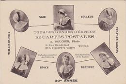 37 -  TOURS  Carte Postale Publicitaire Photographe Et Cartes Postales A. Boucher Rue Condorcet - Tours