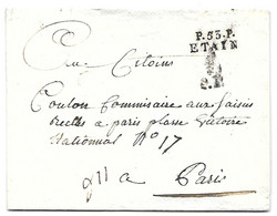 Meuse - LAC  - P.53.P. ETAIN (23x8 Mm) - Bonnet Phrygien En Justification Du Port Payé - 1793 - 1701-1800: Voorlopers XVIII