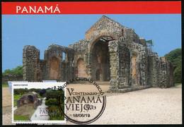 PANAMA (2019) V Centenario Panamá Viejo - Convento De Las Monjas De La Concepción, Convent - Carte Maximum Card - Panama