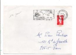 1 ER JOUR FLAMME PORTE HELICOPTERES JEANNE D'ARC 1993 - Mechanical Postmarks (Advertisement)