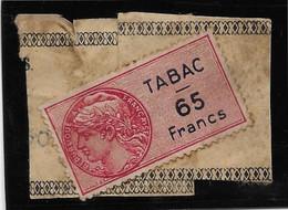 France Fiscaux - Tabac Sur Fragment De Bande - Fiscale Zegels