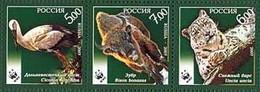 Russia 2007 WWF Rare Animals Set Of 3 Stamps - Nuevos
