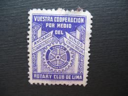 Vignette - Label Stamp - Vignetta Filatelico Aufkleber Espange Rotary Club De Lima Ninos Cruz Roja  Cooperacion - Other