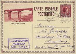 Luxembourg - Luxemburg - Carte-Postale - Postkarte  1932  Grevenmacher - Stamped Stationery