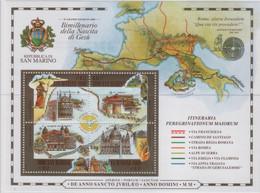 San Marino 2000 - Il Giubileo Del 2000 In Foglietto MNH** (rif. BF64 Cat. Unificato) - Hojas Bloque