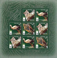 Russia 2007 WWF Rare Animals Block Sheetlet Of 8 Stamps And 1 Coupon - Nuevos