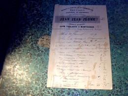 Vieux Papier Facture Document Commercial Jean Jean Jeune Roulages Pour Toulouse & Montauban 1859 - 1800 – 1899