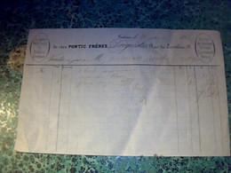 1863 Vieux Papier Facture Document Commercial De Chez Pontc Frères Peinture Droguerie ..à Toulouse - 1800 – 1899