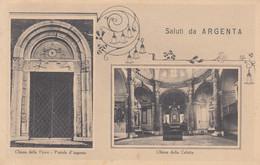 Emilia Romagna - Ferrara  - Argenta  - Saluti Da Argenta - 2 Vedute  - F. Piccolo - Viagg - Molto Bella - Altre Città