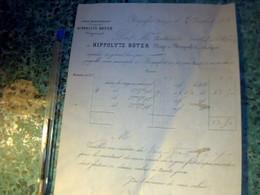 1863 Vieux Papier Facture Fromage De Roquefort Hyppolyte Boyer Négociant Aux Caves De Roquefort - 1800 – 1899