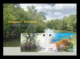 Singapore 2021 Mih. 2738/39 (Bl.271) Nature. Mangroves And Coral Reefs (joint Issue Singapore-Sri Lanka) MNH ** - Singapore (1959-...)
