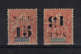 Nouvelle - Calédonie  (1902 ) - 2 X  N°59 (dont 1 Surcharge Renversée ) - Ohne Zuordnung