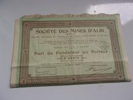 MINES D'ALBI (tarn) - Unclassified