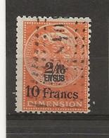 FISCAUX  FRANCE DIMENSIONS N°93 2/10 En Sus Sur 10 Francs Jaune Oblitéré - Fiscale Zegels