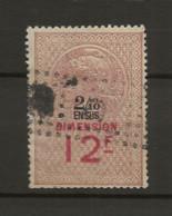 TIMBRES FISCAUX DE FRANCE DIMENSIONS N° 87 12F Et 2/10 En Sus Rouge   Cote 50€ - Revenue Stamps