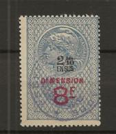 TIMBRES FISCAUX DE FRANCE DIMENSIONS N° 86   2/10 En Sus Sur 8F BLEU GRIS   Cote 110€ - Revenue Stamps