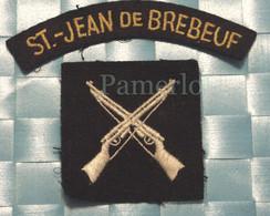 ÉCUSSON EN TISSU -Militaire Indicatif ( St-Jean De Breboeuf) - Scudetti In Tela