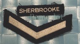 ÉCUSSON EN TISSU -Militaire Indicatif ( Sherbrooke ) - Scudetti In Tela