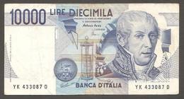 """Italia - Banconota Circolata Da 10.000 Lire """"Volta"""" P-112d.2 - 1998 #19 - 10000 Lire"""