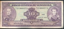 °°° VENEZUELA 10 BOLIVARES 1995 °°° - Venezuela