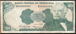 °°° VENEZUELA 20 BOLIVARES 1995 °°° - Venezuela