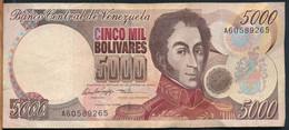 °°° VENEZUELA 5000 BOLIVARES 1996 °°° - Venezuela