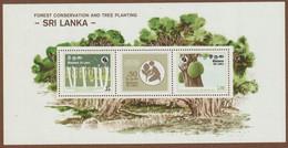 Sri Lanka 1981 Mi.nr. Blok  17  MNH   JackFruit  Tree Planting Day - Sri Lanka (Ceylon) (1948-...)