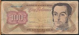 °°° VENEZUELA 100 BOLIVARES 1992 °°° - Venezuela