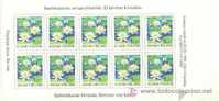 FINLANDIA 1996 - FLORA FLOWER - CARNET (booklet) DE 10 SELLOS - YVERT 1312 - Unused Stamps