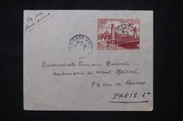 FRANCE - PA  100fr CITT Paris Seul Sur Enveloppe De Dijon Pour Paris En 1949 - L 102372 - 1921-1960: Modern Period